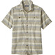 Patagonia Back Step Shirt Men Shorelines Stripe: Shale